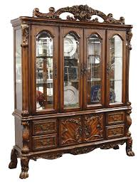 China Cabinet With Hutch Amazoncom Acme 12155 Dresden Hutch And Buffet Cherry Oak