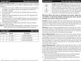 Protronstar Dmx Chart Protron Star User Manual