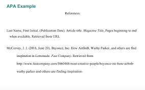 Explanation Example Apa Article In An Online Magazine