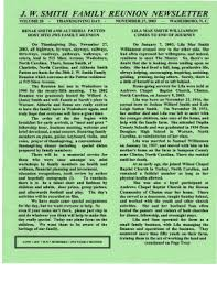 Fillable Online jw smith family reunion newsletter - Ivan Watkins  Photography Fax Email Print - PDFfiller