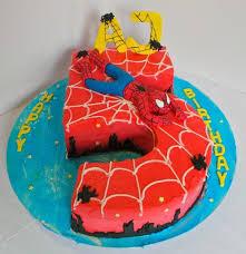 10 Number 5 Birthday Cakes For Boys Photo Spider Man Birthday Cake