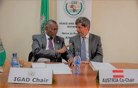 the intergovernmental authority on development igad h e amb eng mahboub maalim this morning received an accreditation letter from the ambador