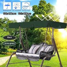 outdoor swing cover 2 3 seats waterproof chair top canopy replacement garden courtyard patio stand set outdoor swing cover