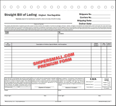 Short Form Bill Of Lading Template