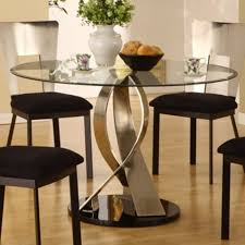 Dining Room Round Glass Top Dining Tables On Dining Room And Modern Round  Glass Top Table