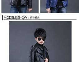 fashion children outerwear waterproof coat baby boys leather jackets for 3 14 years old kids pu