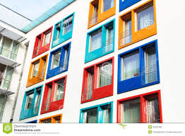 Colorful Facade Of Modern Apartment Building Stock Photo Image - Modern apartment building facade