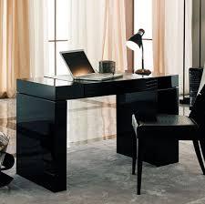 sleek office furniture. furniture office elegant sleek black modern desk design idea for home with simple shape and completed wooden chair