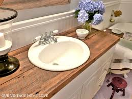 bathroom counter tops. Hate Your Countertops? DIY Salvaged Wood Counter...cheap And So Much More Awesome Than Tile (for Me At Least) ;) Bathroom Counter Tops A