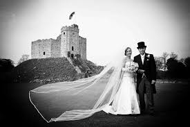 Black And White Bridal Photography In South Wales