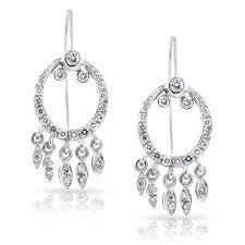 king jewelers pave hoop diamond dangle chandelier earrings c0200034
