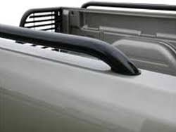 Pickup truck bed side rails available in chrome or black