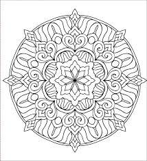 Lusso Disegni Da Colorare Mandala Floreali E Da Stampare Disegno