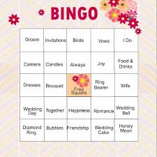 Wedding Bingo Words 11 Free Printable Bridal Showers Bingo Cards