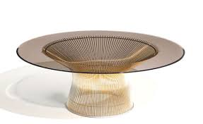 ... Furniture, Golden Round Anitque Glass Top And Metal Legs Platner Coffee  Table Designs Ideas As ...