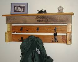 John Deere Coat Rack Pallet Wood Coat Rack READY TO SHIP John Deere Coat Rack 19