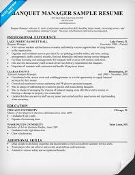 Banquet Manager Resume Classy Banquet Captain Resume Resume Samples