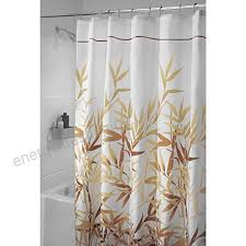 mdesign anti mould shower curtain 180 cm x 200 cm bamboo shower curtain ideal size bathroom