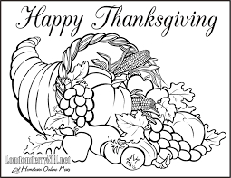 Free Thanksgiving Coloring Pages Printable Page With Awesome