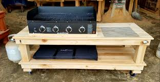 outdoor griddle built in ideas