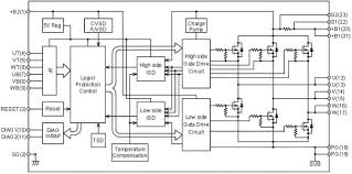stk984 090a e 3 phase brushless dc motor driver on semiconductor s-drive controller wiring at Pg Drives Technology S Drive Wiring Diagram