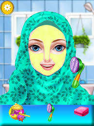 hijab fashion style doll makeup salon