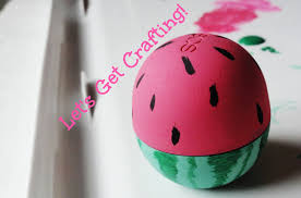 easy just get a mint and pink eos then color on black seeds and darker green shading with a pink diy watermelon eos inside