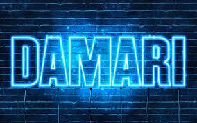 names horizontal text damari name