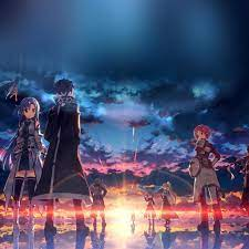 Anime Art Sunset Drawing iPad Air ...