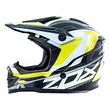 Zox 88 33183 Rush Pulse Junior Medium Yellow Off Road Helmet