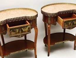 Pair of Antique <b>French Style</b> Marble Top <b>Side Tables</b> at Marylebone ...