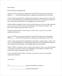 Employment Dismissal Termination Letter