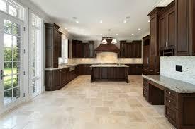kitchen tile flooring dark cabinets. Antique White Kitchen Cabinets Grey Walls Dark Wood Floors Tile Flooring