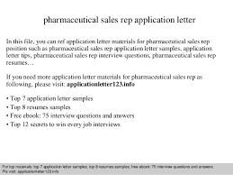 Pharmaceutical Sales Rep Resumes Pharmaceutical Sales Rep Application Letter