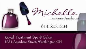 modern purple nail polish manicurist and makeup artist business cards with makeup artist pany name ideas