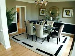 rug size for round dining room table round dining table rug rug for dining table size