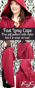 i love how simple this free fast hooded cape pattern is plus there s a