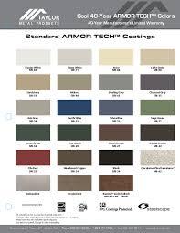 Union Metal Roofing Color Chart 69 Efficient Union Metal Color Chart