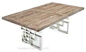 chrome and wood coffee table distressed wooden table with chrome base dark wood and chrome coffee