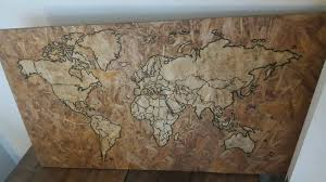 world map wall hanging upcycled recycled pallet art