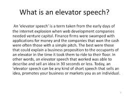 What Is A Elevator Speech Ppt Training Presentation Preparing And Delivering An Elevator