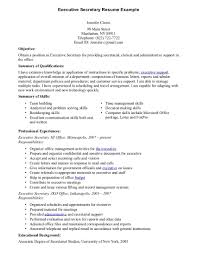 Executive Secretary Resume Example Two Executive Secretary Resume