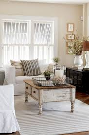 Image Simple Cottage Cottage Style Living Room With Shabby Coffee Table Shelterness 26 Charming Shabby Chic Living Room Décor Ideas Shelterness