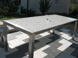 Granit Gartentische Aus Naturstein Und Edelstahl Alpgranit