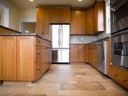 Stone Kitchen Floor Traditional Minimalist Kitchen Design With Wooden Kitchen