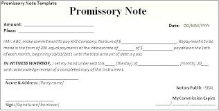 Demand Note Template Mortgage Promissory Demand Promissory Note