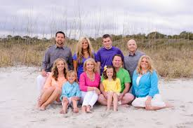 Family Beach Photos Fun Family Portraits With Colorful Outfits At Myrtle Beach State Park