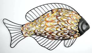 modest ideas fish metal wall art amazon com d on metal bottle tin fish wall art wall art design ideas group stainless metal fish  on fish swirl metal wall art with fish school metal wall art decor painted wood fish wall art