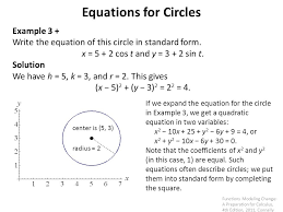 example 3 write the equation of this circle in standard form