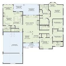 house plans with bedrooms on one side luxury european style house plan 4 beds 3 00